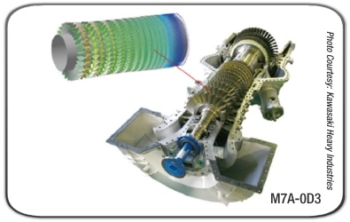 KHI M7A industrial gas turbine
