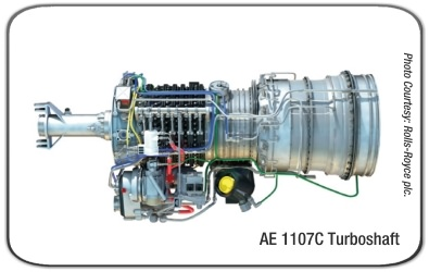 Rolls-Royce T406 AE 1107C Turboshaft Engine
